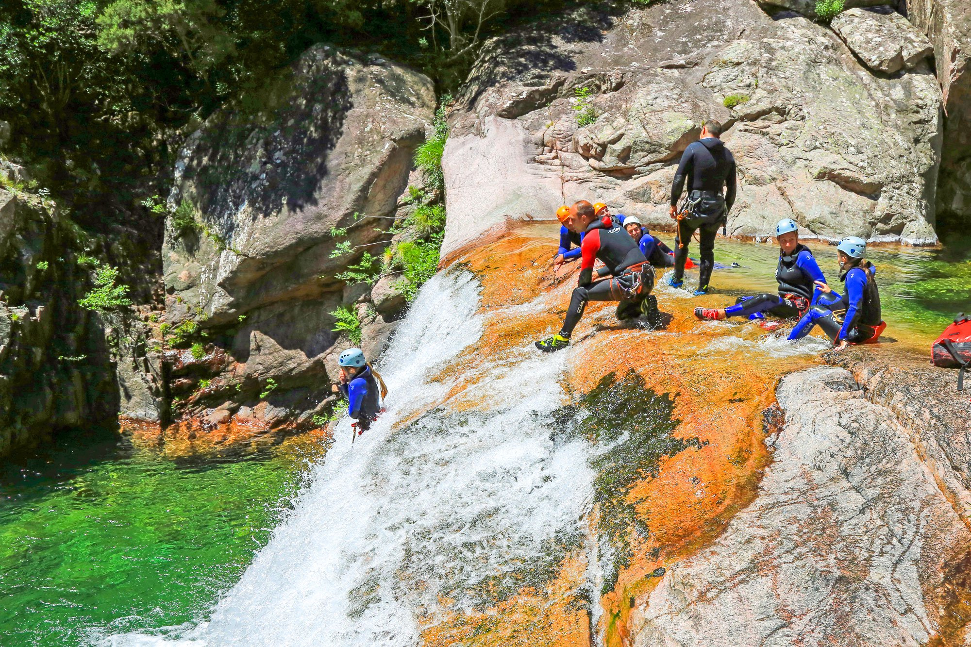 Canyoning dans la Vacca